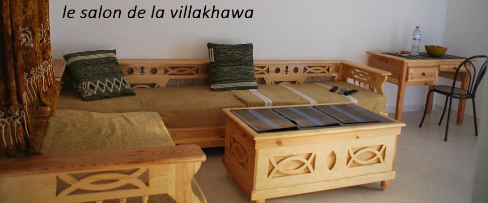 le salon à l'etage  de la villakhawa